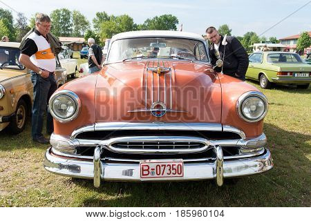 PAAREN IM GLIEN GERMANY - MAY 19: Car Pontiac Star Chief 2-door coupe First generation (1954)