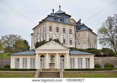 Château Karlova Koruna in the town of Chlumec nad Cidlinou in the Czech Republic as a typical European palace