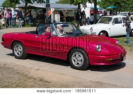 Paaren Im Glien, Germany - May 19: The Two-door Roadster Alfa Romeo Spider (series 4),