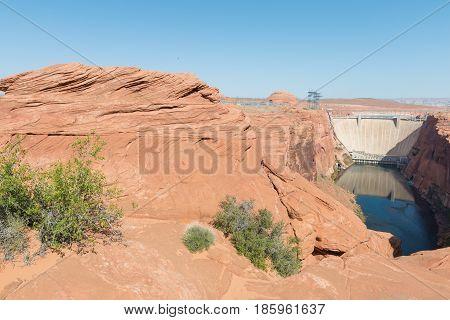 Glen Canyon Dam on the Colorado River Page Arizona