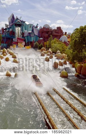 Universal Studios Resort Orlando Florida USA - October 24 2016: Dudley Do-Right