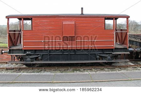 A Vintage Guards Van from a British Freight Train.