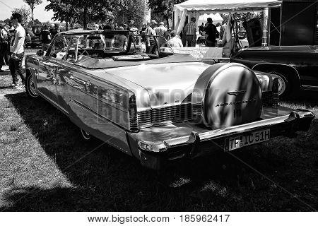 Paaren Im Glien, Germany - May 19: Full-size Car Rambler Ambassador 990 Convertible, Rear View (blac
