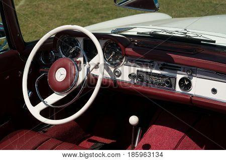 PAAREN IM GLIEN GERMANY - MAY 19: Cab sports car Mercedes-Benz 230 SL (W 113)