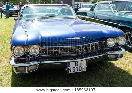 Paaren Im Glien, Germany - May 19: Full-size Luxury Car Cadillac Coupe De Ville (1960),