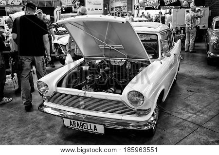 Paaren Im Glien, Germany - May 19: Car Lloyd Arabella, (black And White)