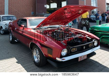 Paaren Im Glien, Germany - May 19: Pony Car Ford Mustang Coupe (second Generation), 1971,