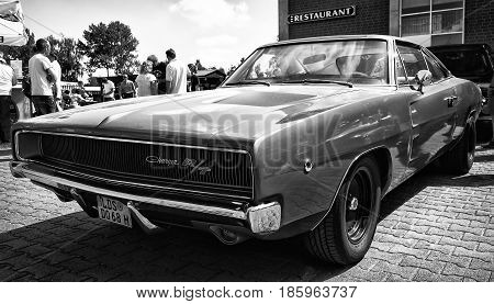 Paaren Im Glien, Germany - May 19: Mid-size Car Dodge Charger R/t, (black And White),