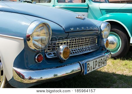 Paaren Im Glien, Germany - May 19: The East German Car Wartburg 311/2 Cabriolet,