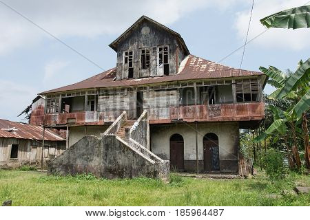 Ruin of an old farmhouse, Sao Tome and Principe, Africa