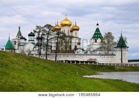 Beautiful Holy Trinity Ipatiev monastery in Russia in the city of Kostroma