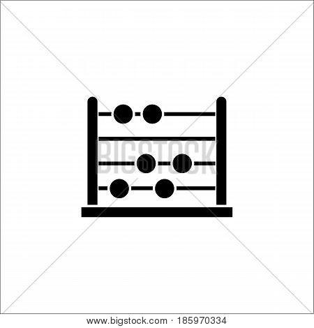 School abacus solid icon, education and school element, math vector graphics, a filled pattern on a white background, eps 10.
