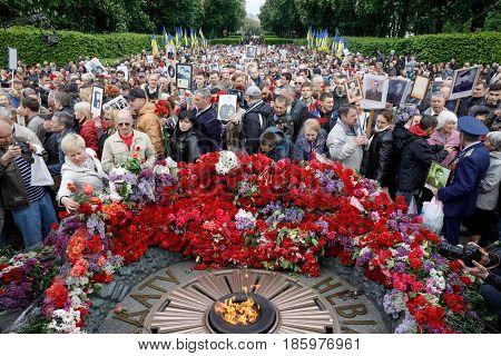 The Immortal Regiment March In Kiev