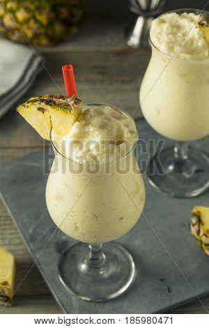 Homemade Frozen Pina Colada Cocktail
