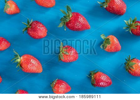 pattern with strawberry. abstract pattern with strawberry , blue background.