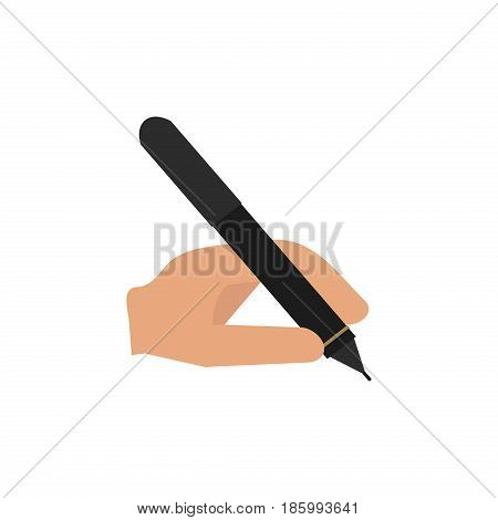Metal pen isolated on white background office equipment stationery metallic tool vector illustration. Ballpoint school writing instrument flat marker work sign.