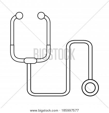 stethoscope healthcare icon image vector illustration design single black line