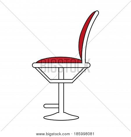 hair salon chair icon image vector illustration design  partially colored