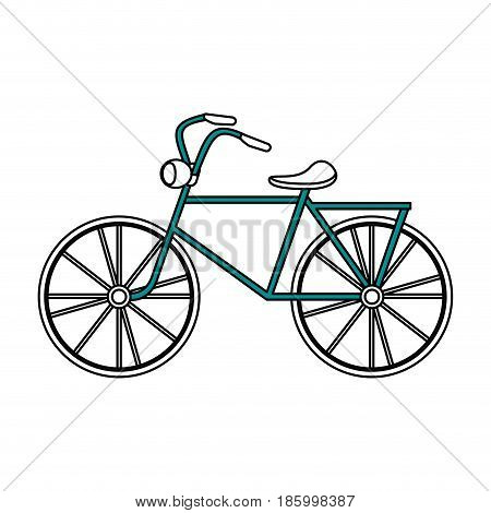 city bike or bicycle icon image vector illustration design partially colored