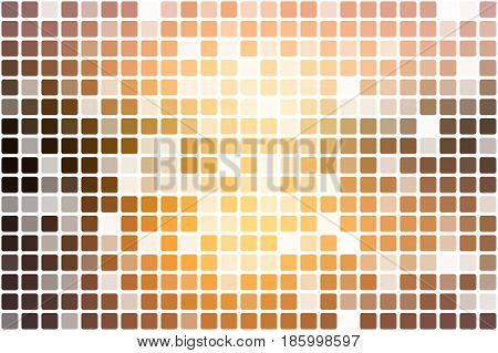 Yellow coral pink black occasional opacity vector square tiles mosaic over white background
