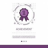 Achievement Medal Appreciations Business Evaluation Icon Thin Line Vector Illustration poster