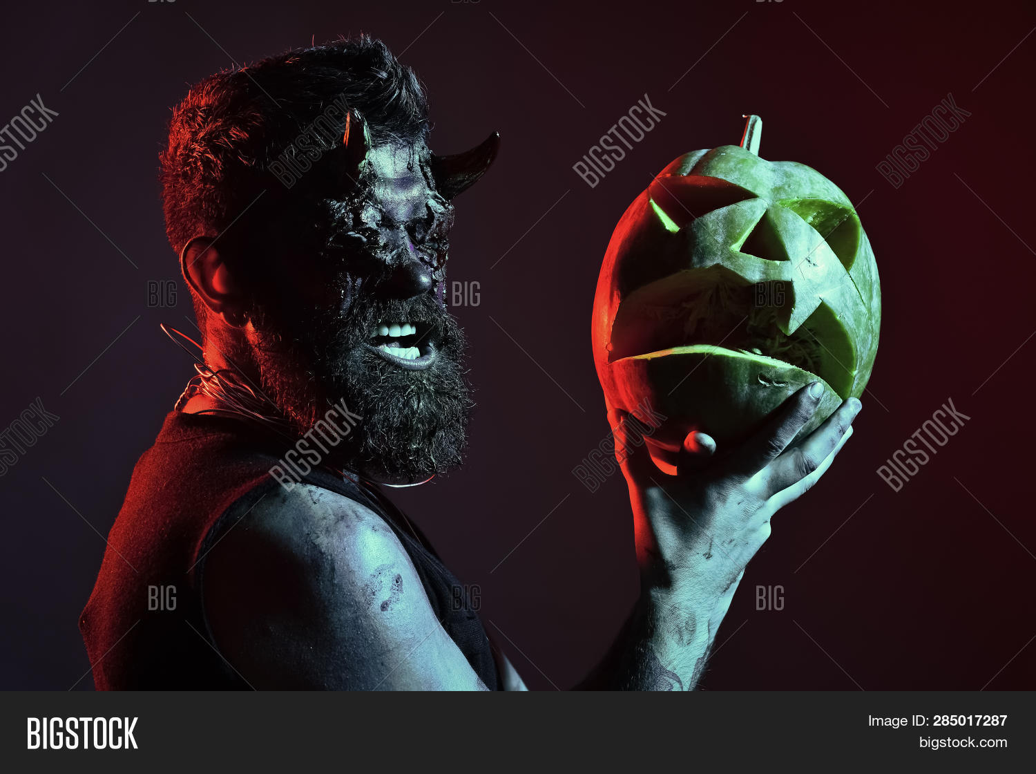 Halloween Maan.Halloween Man Demon Image Photo Free Trial Bigstock