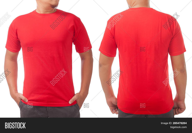 Red T Shirt Mock Image Photo Free Trial Bigstock