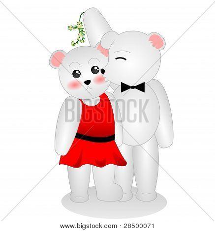 Mistletoe Polar Bears