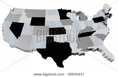 USA Map (States)