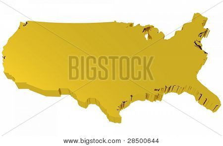 USA Map - Golden