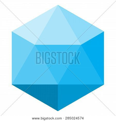 Lowpoly Logo On White Background. Flat Style. Lowpoly Logo Icon For Your Web Site Design, Logo, App,