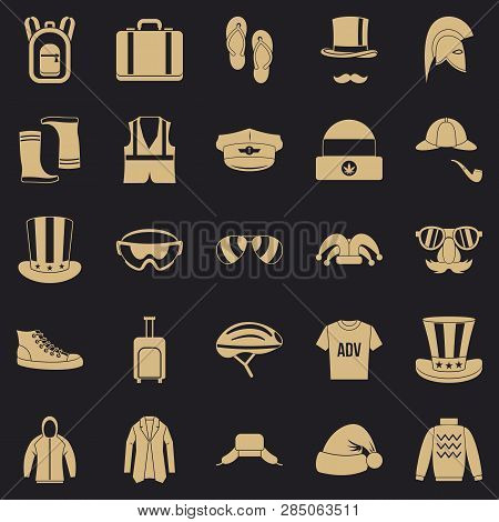 Buying Winter Clothes Icons Set. Simple Set Of 25 Buying Winter Clothes Vector Icons For Web For Any