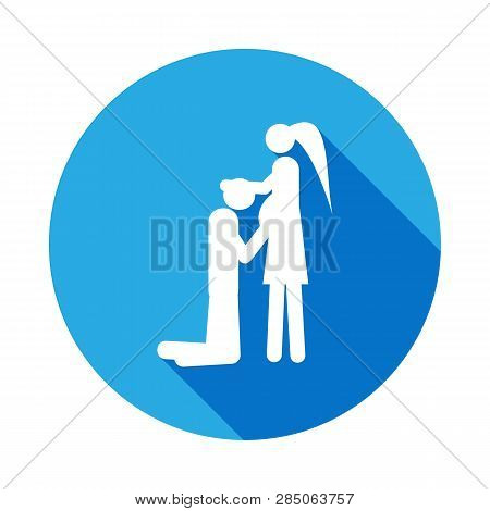 Couple In Anticipation Of Baby Icon. Element Of Life Married People Illustration. Signs And Symbols