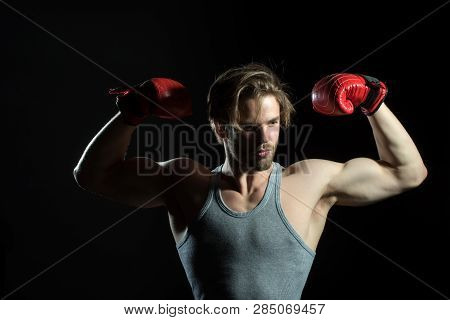 Strong Boxer Body. Winner. Victory Boxing. Competitions With Boxing, Victory In The Round, Boxing Ch