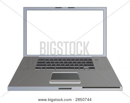 Laptop Over White