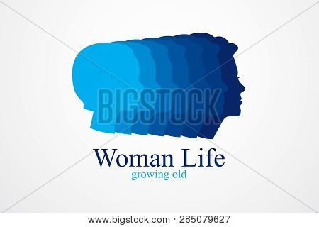Girl Maturation Age Years Concept, Adulthood Idea, The Time Of Life, Periods And Cycle Of Life, Grow
