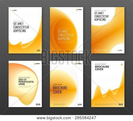 Brochure Cover Design Templates Set For Business. Good For Annual Report, Magazine Cover, Poster, Co