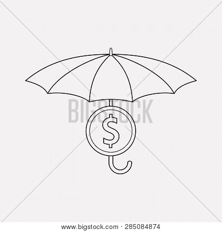 Financial Insurance Icon Line Element. Vector Illustration Of Financial Insurance Icon Line Isolated