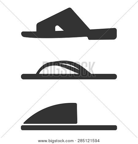 Slippers Icon Set. Simple Set Of Slippers Icons For Web Design Isolated On White Background. Vector