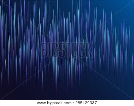 Digital Geometric Blue Lines Streams Visual Optic Technology, Speed Concept. Glowing Lines Falling A