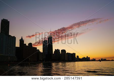 View Of Chicago Downtown Skyline