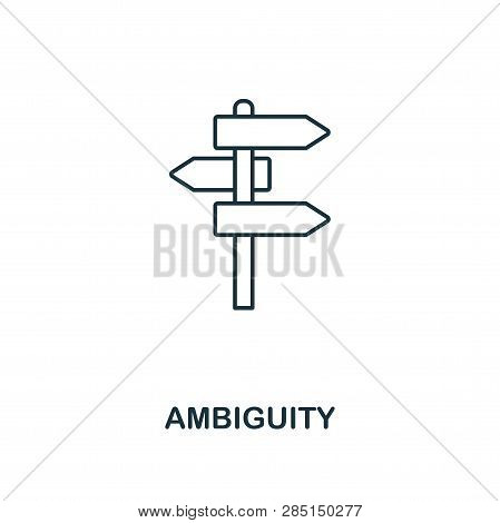 Ambiguity Outline Icon. Thin Line Style From Big Data Icons Collection. Pixel Perfect Simple Element