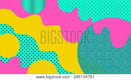 Abstract Geometric Shapes Background In Abstract Style. Abstract Futuristic Backdrop. Graphic Elemen