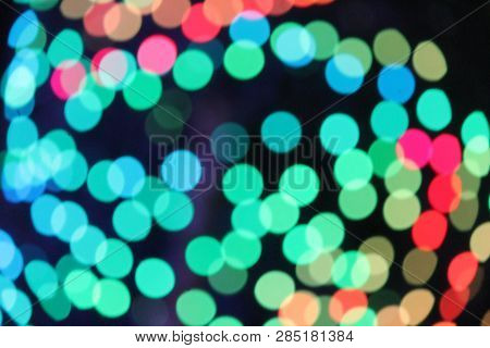 Abstract Bokeh Christmas Circles Of Light Stock Photo Picture