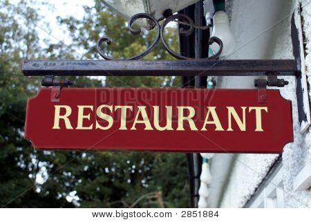 Sign. Restaurant.