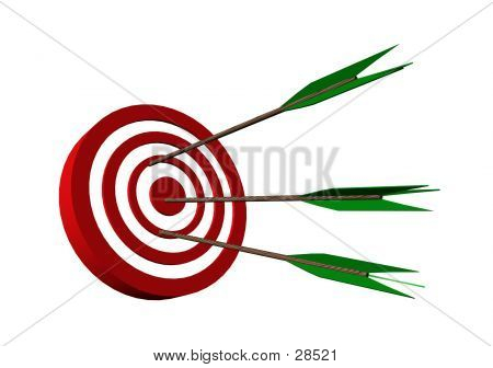Bull's Eye Target With Arrows