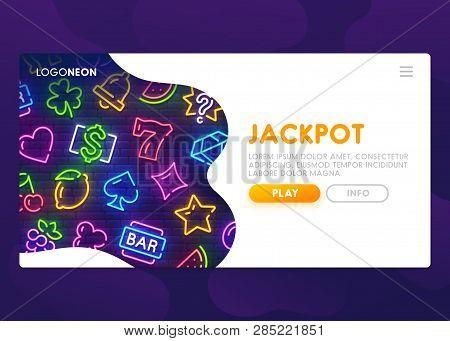 Online Slots Website. Winning Jackpot. Casino Web Page. Slot Neon Sign. Casino, Slot Machine, Gambli