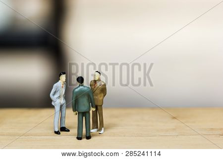 Financial Investment Negotiation,discussion Among Ceo Or Execute Level Concept. Miniature Figurine T