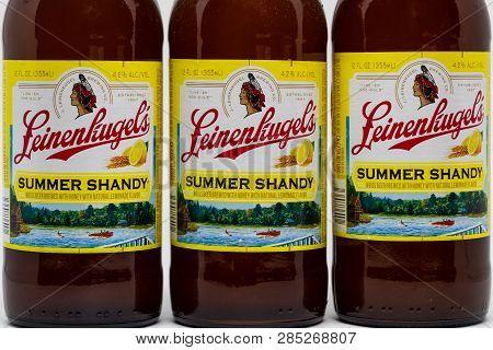 Grouping Of Three Leinenkugel Beer Bottles