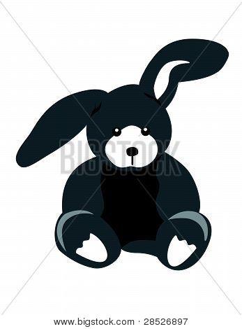 Gray Bunny Illustration